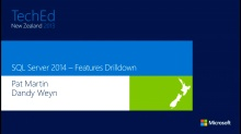 "What's new in SQL Server ""2014""  - feature drilldown"