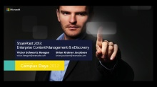 SharePoint 2013: Enterprise Content Management & eDiscovery