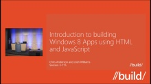 Introduction to creating Windows Store apps using HTML and JavaScript