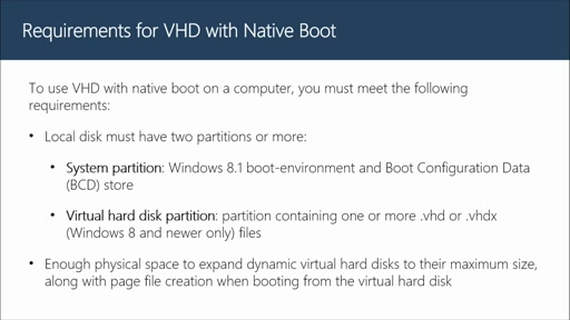 Configuring VHD with Native Boot