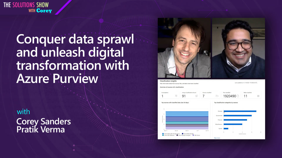 Conquer data sprawl and unleash digital transformation with Azure Purview