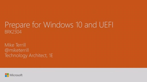 Prepare for Windows 10 and UEFI