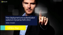 New deployment and authentication options in Dynamics NAV 2013