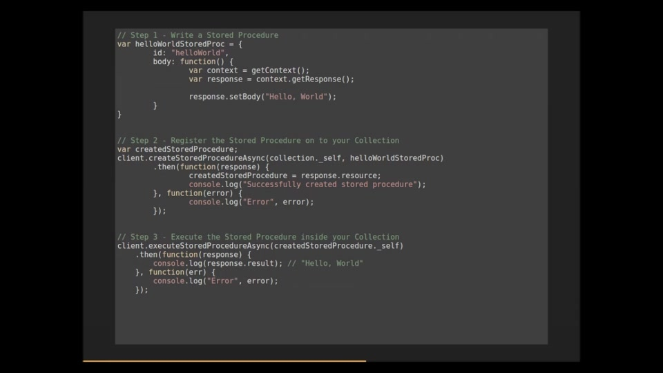 Azure Demo: A Quick Intro to Azure DocumentDB's Server-Side Javascript