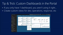 Azure Custom Dashboards