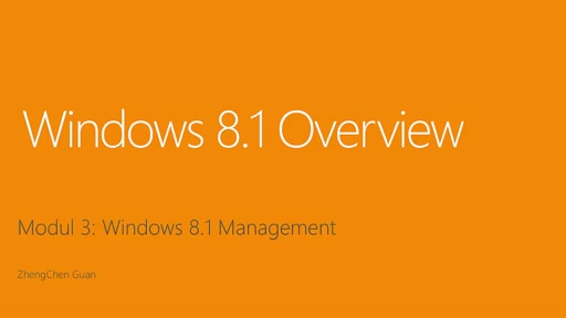 Windows 8.1 Management