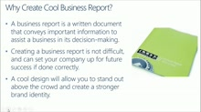 SMB Solution: Increase Your Productivity with Office 365: (02) How to Create Cool Business Reports