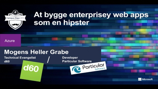 At bygge enterprisey web apps som en hipster
