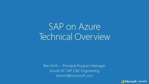 SAP on Azure - Technical Overview