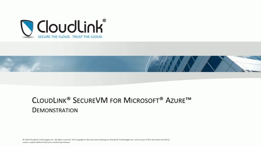 CloudLink SecureVM for Microsoft Azure