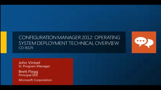 Configuration Manager 2012: Operating System Deployment Technical Overview