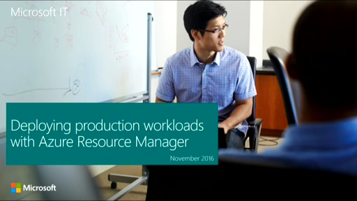 Deploying production workloads with Azure Resource Manager