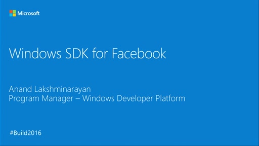 Windows SDK for Facebook