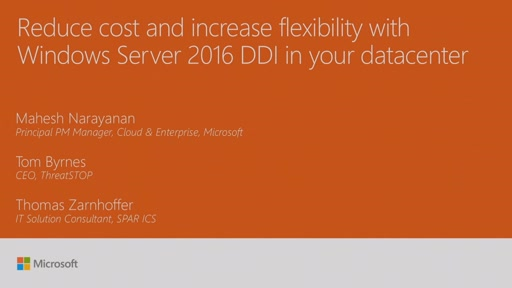 Reduce cost and increase flexibility with Windows Server 2016 DDI in your datacenter