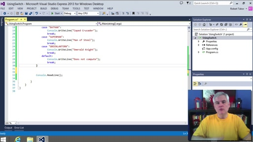 C# Fundamentals for Absolute Beginners: (20) Enumerations and the switch Decision Statement