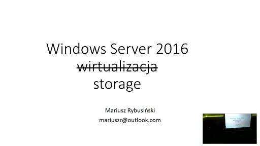 Windows Server 2016 - Storage