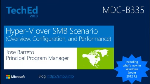 Understanding the Hyper-V over SMB Scenario, Configurations, and End-to-End Performance