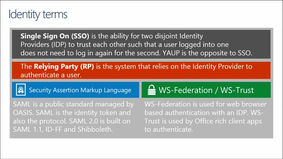 Office 365 Identity Management: (01) Introduction to Identity Management  Concepts and Integration Options with Office 365