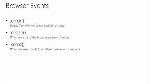 Introduction to jQuery: (04) Events