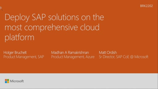 Deploy SAP solutions on the most comprehensive cloud platform