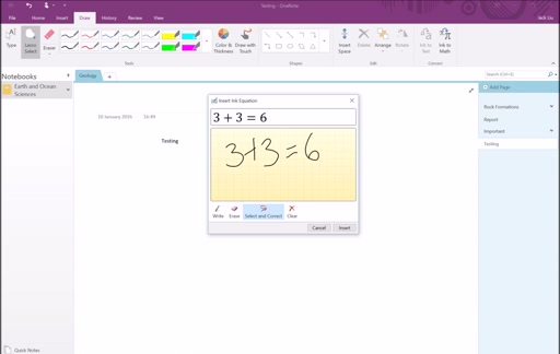 Section 6: OneNote Handwriting Capabilities