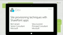Site provisioning techniques with SharePoint apps