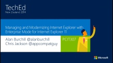 Managing and Modernizing Internet Explorer with Enterprise Mode for Internet Explorer 11