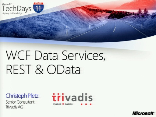 TechDays 11 Geneva - WCF Data Services, REST & Odata (e)
