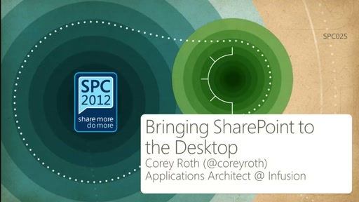 Bringing SharePoint to the Desktop: Building Windows 8 Metro Style Apps with SharePoint Server 2013