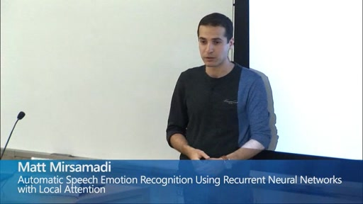 Automatic Speech Emotion Recognition Using Recurrent Neural Networks with Local Attention