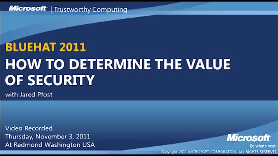 How To: Determine The Value Of Security