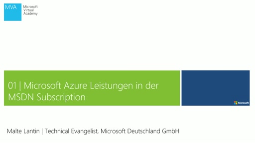 Modul 1: Microsoft Azure Leistungen in der MSDN Subscription
