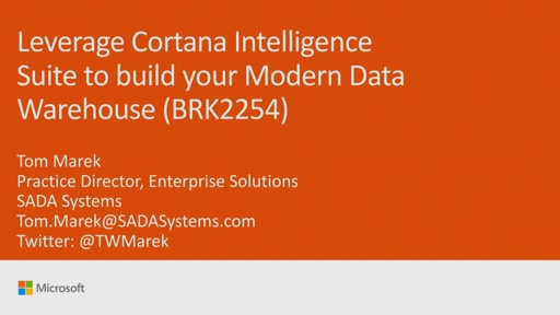 Leverage Cortana Intelligence Suite to build your modern data warehouse