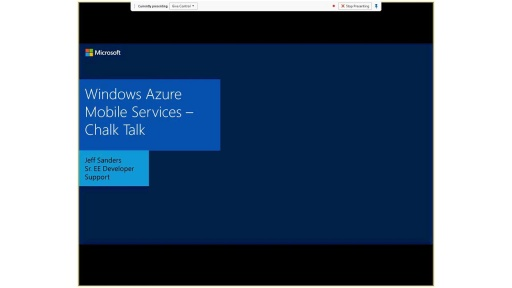 Chalk Talk - Windows Azure Mobile Services Deep Dive with Tech Support