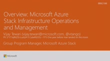 Learn about Azure Stack Infrastructure Operations and Management
