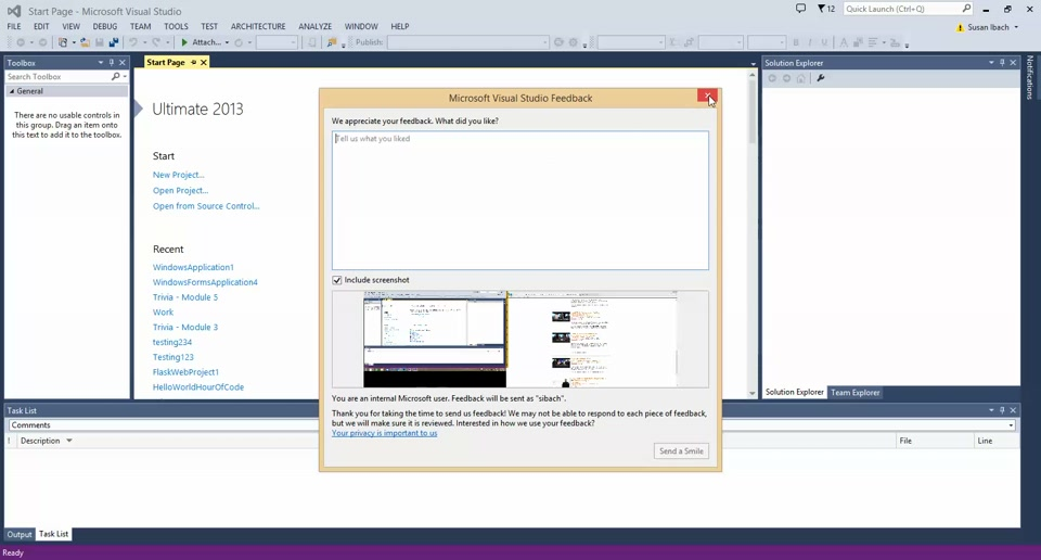 Visual Studio Tip: How do I request a new feature in Visual Studio?