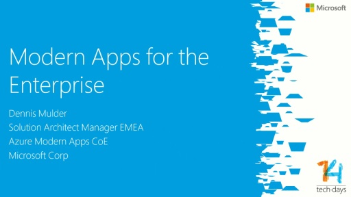 Modern Apps for the Enterprise