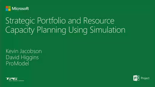 Strategic Portfolio and Resource Capacity Planning Using Simulation