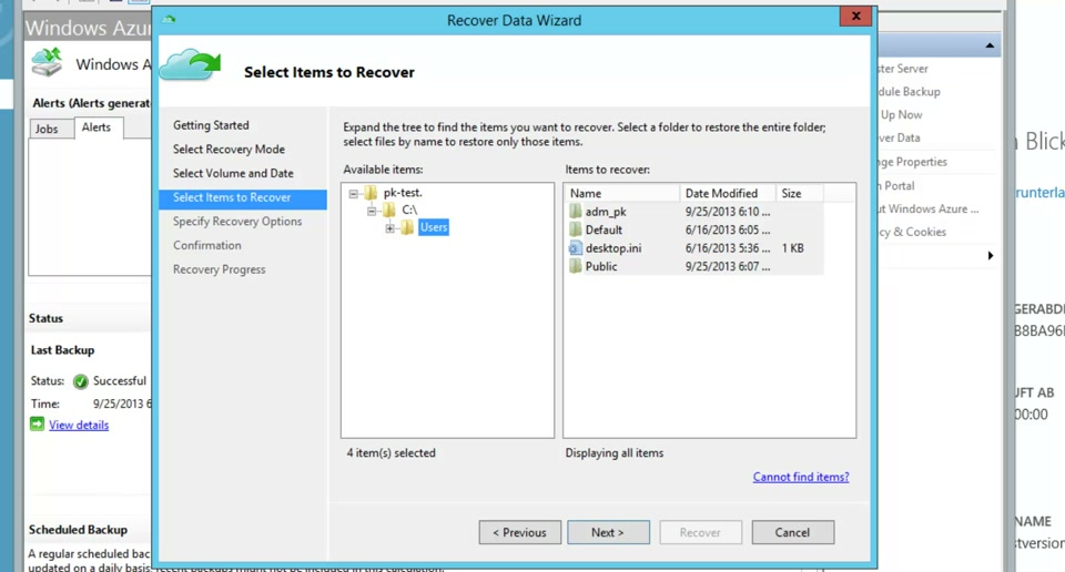 Tutorial - Backup eines Windows Servers mit Windows Azure Backup