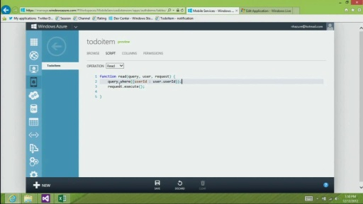 Windows Store app - Authenticate and Authorize users with Server Scripts in Windows Azure Mobile Services
