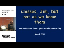 MDCC TechTalk - Classes, Jim, but not as we know them
