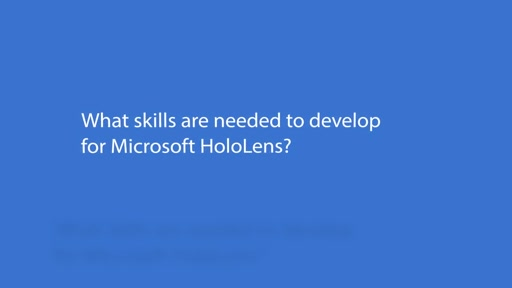 HoloLens what developers needs to know