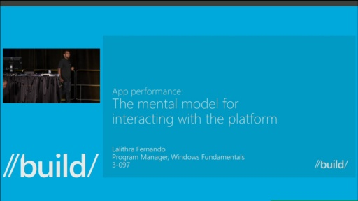 App Performance: The Mental Model for Interacting with the Platform