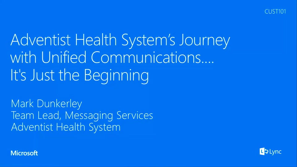 Custom All Stars >> Adventist Health System's Journey with Unified ...