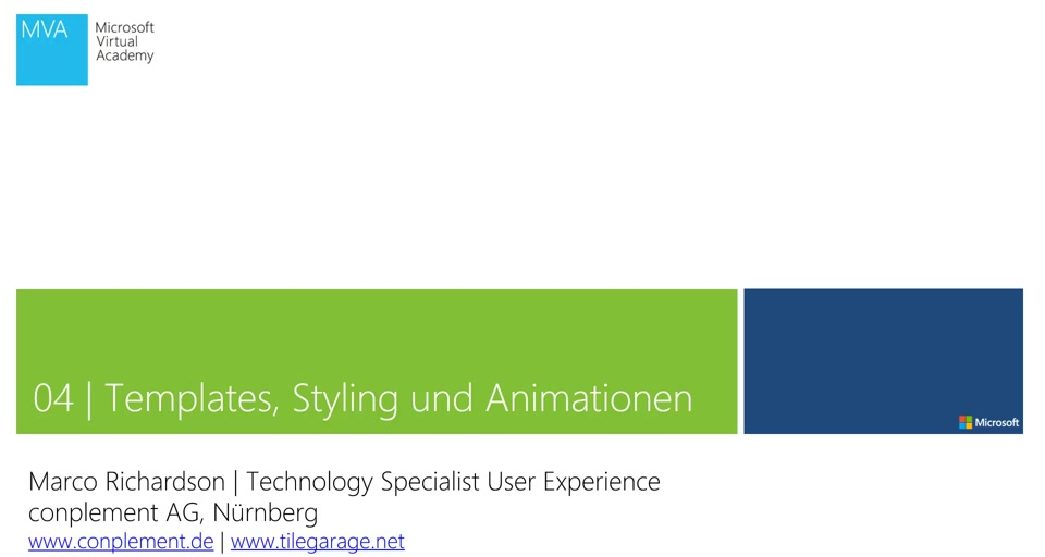 04 | Templates, Styling und Animationen
