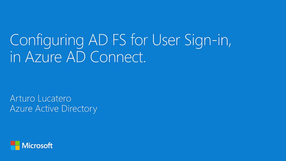 Configuring AD FS for user sign-in with Azure AD Connect
