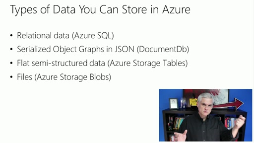 Microsoft Azure Fundamentals: Storage and Data: (02) Overview of Your Data Storage Options