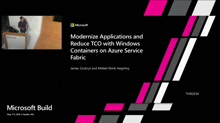 Modernize applications and reduce TCO with Windows containers on Azure Service Fabric