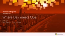 Where Dev meets Ops - Presented by Kloud and Readify