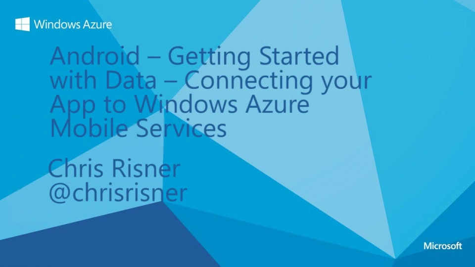 Android - Getting Started With Data - Connecting your app to Windows Azure Mobile Services